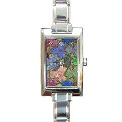 Background With Color Kindergarten Tiles Rectangle Italian Charm Watch
