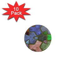 Background With Color Kindergarten Tiles 1  Mini Magnet (10 Pack)