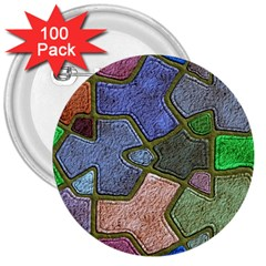 Background With Color Kindergarten Tiles 3  Buttons (100 pack)