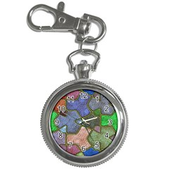 Background With Color Kindergarten Tiles Key Chain Watches