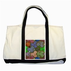 Background With Color Kindergarten Tiles Two Tone Tote Bag