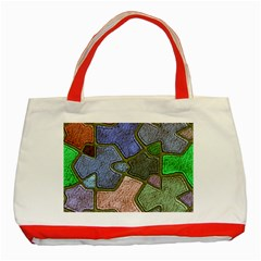 Background With Color Kindergarten Tiles Classic Tote Bag (Red)