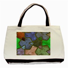 Background With Color Kindergarten Tiles Basic Tote Bag (Two Sides)