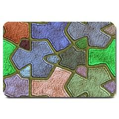 Background With Color Kindergarten Tiles Large Doormat