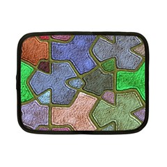 Background With Color Kindergarten Tiles Netbook Case (Small)