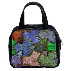 Background With Color Kindergarten Tiles Classic Handbags (2 Sides)