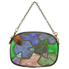 Background With Color Kindergarten Tiles Chain Purses (Two Sides)