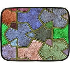 Background With Color Kindergarten Tiles Fleece Blanket (Mini)