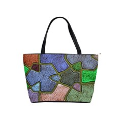Background With Color Kindergarten Tiles Shoulder Handbags