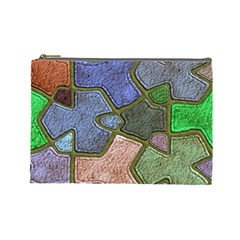 Background With Color Kindergarten Tiles Cosmetic Bag (Large)