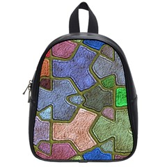 Background With Color Kindergarten Tiles School Bags (Small)
