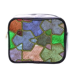 Background With Color Kindergarten Tiles Mini Toiletries Bags