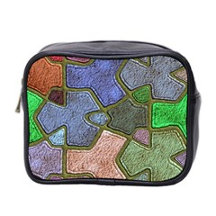 Background With Color Kindergarten Tiles Mini Toiletries Bag 2-Side
