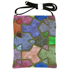 Background With Color Kindergarten Tiles Shoulder Sling Bags