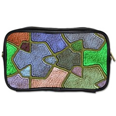 Background With Color Kindergarten Tiles Toiletries Bags 2 Side