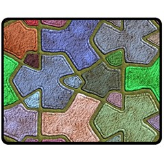 Background With Color Kindergarten Tiles Fleece Blanket (medium)