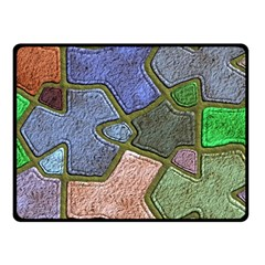 Background With Color Kindergarten Tiles Fleece Blanket (Small)