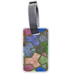 Background With Color Kindergarten Tiles Luggage Tags (one Side)