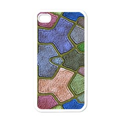 Background With Color Kindergarten Tiles Apple iPhone 4 Case (White)