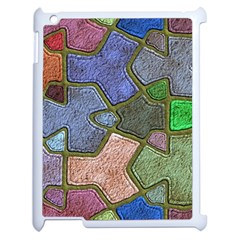 Background With Color Kindergarten Tiles Apple iPad 2 Case (White)