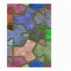 Background With Color Kindergarten Tiles Small Garden Flag (Two Sides)