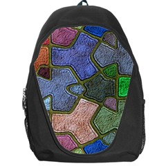 Background With Color Kindergarten Tiles Backpack Bag