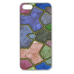 Background With Color Kindergarten Tiles Apple Seamless Iphone 5 Case (clear)
