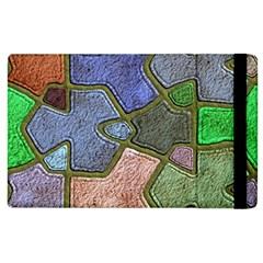 Background With Color Kindergarten Tiles Apple Ipad 3/4 Flip Case