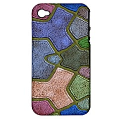 Background With Color Kindergarten Tiles Apple iPhone 4/4S Hardshell Case (PC+Silicone)