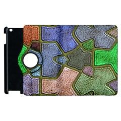 Background With Color Kindergarten Tiles Apple iPad 2 Flip 360 Case