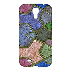 Background With Color Kindergarten Tiles Samsung Galaxy S4 I9500/I9505 Hardshell Case