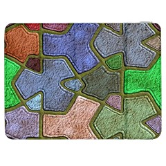 Background With Color Kindergarten Tiles Samsung Galaxy Tab 7  P1000 Flip Case
