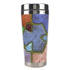 Background With Color Kindergarten Tiles Stainless Steel Travel Tumblers