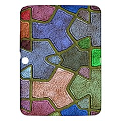Background With Color Kindergarten Tiles Samsung Galaxy Tab 3 (10 1 ) P5200 Hardshell Case