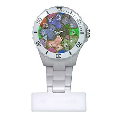 Background With Color Kindergarten Tiles Plastic Nurses Watch