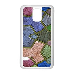 Background With Color Kindergarten Tiles Samsung Galaxy S5 Case (white)