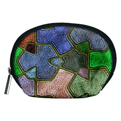 Background With Color Kindergarten Tiles Accessory Pouches (medium)