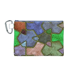 Background With Color Kindergarten Tiles Canvas Cosmetic Bag (m)