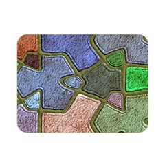Background With Color Kindergarten Tiles Double Sided Flano Blanket (mini)