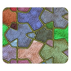 Background With Color Kindergarten Tiles Double Sided Flano Blanket (Small)