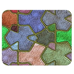 Background With Color Kindergarten Tiles Double Sided Flano Blanket (Medium)