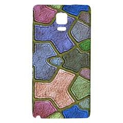 Background With Color Kindergarten Tiles Galaxy Note 4 Back Case