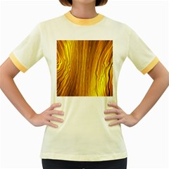 Light Doodle Pattern Background Wallpaper Women s Fitted Ringer T Shirts