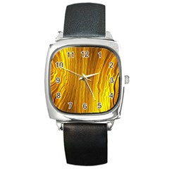 Light Doodle Pattern Background Wallpaper Square Metal Watch