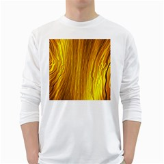 Light Doodle Pattern Background Wallpaper White Long Sleeve T-Shirts