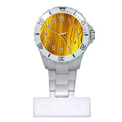 Light Doodle Pattern Background Wallpaper Plastic Nurses Watch