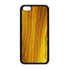 Light Doodle Pattern Background Wallpaper Apple Iphone 5c Seamless Case (black)