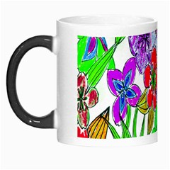 Background Of Hand Drawn Flowers With Green Hues Morph Mugs