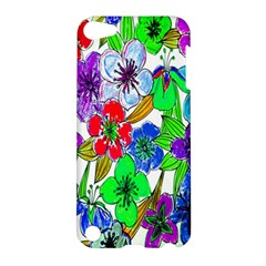 Background Of Hand Drawn Flowers With Green Hues Apple Ipod Touch 5 Hardshell Case