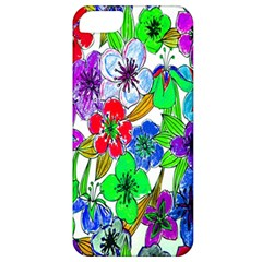 Background Of Hand Drawn Flowers With Green Hues Apple Iphone 5 Classic Hardshell Case